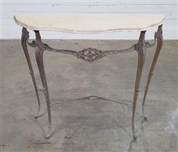 Sale 9191 - Lot 1024 - French style console table (h:76 w:87 d:31cm)