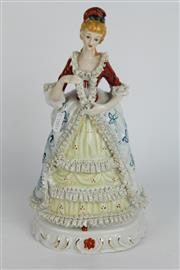Sale 8396 - Lot 41 - Continental Figure of a Crinoline Lady