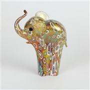 Sale 8396A - Lot 24 - Millefiori Art Glass Elephant