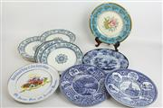Sale 8470 - Lot 73 - Early Wedgwood Raphael Plates (8) with 5 Other Cabinet Plates incl Aynsley & Doulton