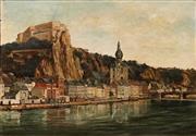 Sale 8683 - Lot 549 - Attributed to Hans Heysen (1877 - 1968) - Hohensalzburg Fortress, Salzburg 1901 50 x 72cm