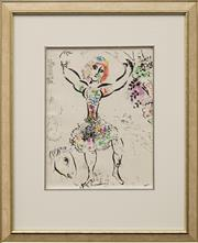 Sale 8655 - Lot 2077 - Marc Chagall (1887 - 1885) Woman Juggler colour lithograph 30 x 22.5cm unsigned