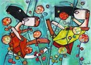 Sale 8657E - Lot 5014 - Janine Daddo (1959 - ) - Fly Through the Flowers 77 x 108cm (frame: 99 x 129cm)