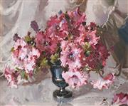 Sale 8683 - Lot 517 - Alan Douglas Baker (1914 - 1987) - Fringed Petunias 37 x 44.5cm