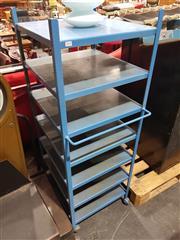 Sale 8723 - Lot 1018 - Metal Industrial S7 Tier Stand