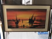 Sale 8784 - Lot 2060 - Artist Unknown - Boats in Harbour