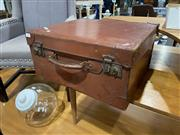 Sale 8876 - Lot 1087 - Vintage Leather Suitcase