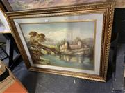 Sale 8891 - Lot 2081 - Italian School - Country Scene, Painting