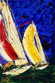 Sale 8959A - Lot 5029 - Dean Vella (1958 - ) - Yacht Race 89 x 68.5 cm (frame: 107 x 76 x 4 cm)
