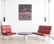 Sale 9047 - Lot 518 - Yinarupa Nangala (c1955 - ) - Ngaminya 95 x 78 cm (stretched and ready to hang)