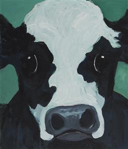 Sale 9099A - Lot 5002 - Eddi Kewley - Troubull 44.5 x 37 cm (frame: 60 x 52 x 4 cm)