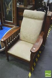 Sale 8331 - Lot 1028 - Adjustable Back Reclining Armchair w Spindle Supports