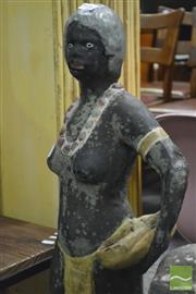 Sale 8364 - Lot 1049A - Vintage Concrete Aboriginal Woman