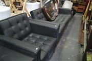 Sale 8390 - Lot 1444 - 3-Piece Modern Square Lounge Suite