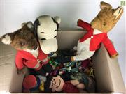 Sale 8559A - Lot 82 - Box incl Vintage Peanuts Snoopy and Lucy with other toys incl. Basil Brush and McDonalds