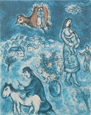 Sale 8652A - Lot 5086 - Marc Chagall (1887 - 1885) - Sur La Route du Village 71.5 x 56.5cm