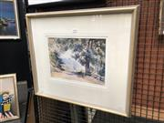 Sale 8784 - Lot 2048 - Peter Bousfield - By the Roadside (foot of the Macquarie Pass), 1932 watercolour, signed and dated lower left