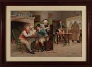 Sale 9015J - Lot 36 - John. A. Lomax - The story of the elopement 41.5 x 64cm