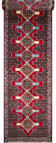 Sale 8321C - Lot 80 - Persian Sanandau 386cm x 90cm RRP $2000