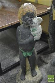 Sale 8364 - Lot 1049B - Vintage Concrete Aboriginal Child
