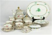 Sale 8436 - Lot 7 - Bavarian Gilt Coffee Setting with Herend Plates