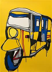Sale 8657E - Lot 5022 - Jasper Knight (1978 - ) - Red Stripe 76 x 56cm (frame: 98 x 78cm)