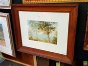 Sale 8659 - Lot 2048 - H Oliver - Bush Landscape, 1935, oil on canvas, 51 x 62cm (frame size), signed and dated lower left