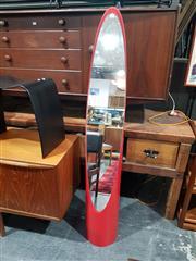 Sale 8705 - Lot 1089 - Vintage Red Lipstick Mirror
