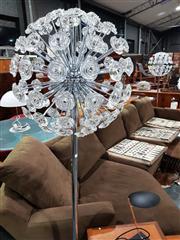 Sale 8765 - Lot 1034 - Pair of Chrome Sputnik Standard Lamps