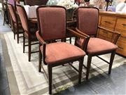 Sale 8826 - Lot 1028 - Teak Seven Piece Dining Setting incl. Moran Butterfly Leaf Extension Table & Six Berryman Chairs