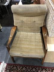 Sale 8893 - Lot 1090 - Vintage Teak Upholstered Armchair