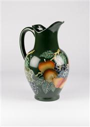 Sale 8350L - Lot 25 - An Italian hand painted jug with fruit motif, H 37cm, RRP $ 130