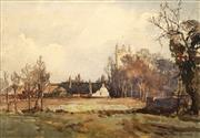 Sale 8650 - Lot 2062 - William Roger Benner (1884 - 1964) - Walberswick Church Suffolk, England 25.5 x 36.5cm
