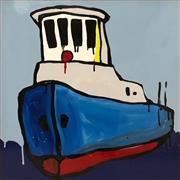 Sale 8657E - Lot 5023 - Jasper Knight (1978 - ) - Blue Hull, 1960s Tug 60 x 60cm