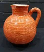 Sale 8984 - Lot 1076 - Bitossi Ceramic Jug in Orange (H:24 x D:24cm)