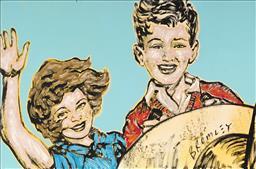 Sale 9161A - Lot 5036 - DAVID BROMLEY (1960 - ) - Young Sailors 60 x 90 cm