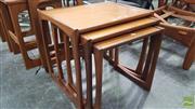 Sale 8409 - Lot 1072 - G-Plan Teak Nest of Tables
