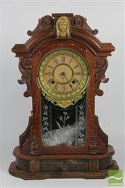 Sale 8508 - Lot 7 - Ansonia Mantle Clock And an Arts & Crafts Example