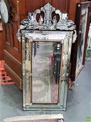 Sale 8611 - Lot 1086 - Venetian Style Bevelled Edge Mirror (140 x 72cm)