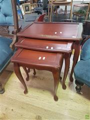 Sale 8648C - Lot 1079 - Nest of Three Tables
