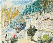 Sale 8794A - Lot 5004 - Lloyd Rees (1895 - 1988) - Edge of the Forest, 1980 64 x 79.5cm