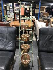 Sale 8787 - Lot 1030 - Metal Pot Rack