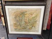 Sale 8906 - Lot 2045 - Sydney Harbour Trust Birds Eye View of the Port of Sydney, Lithograph, 1919, 75.5x61.5cm