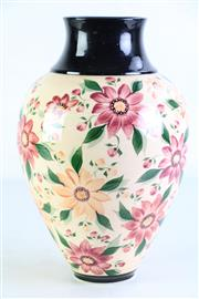 Sale 8994W - Lot 689 - An Australian Floral Themed Glazed Vase Mark To Base (R.E.G. 1992 Australia H 29cm)