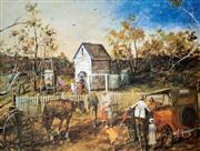 Sale 8996A - Lot 5041 - Hugh Sawrey (1919 - 1999) - The Church on the Rise 64 x 87 cm