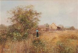 Sale 9139 - Lot 2018 - Robert Todonai (1963 - ) - Monash Farmhouse, Riverland, S.A 21 x 31 (frame: 37 x x47 x 4 cm)