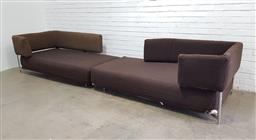 Sale 9134 - Lot 1047 - Pair of fabric Tangeri sofas by Francesco Binfare for B&B Italia (h:77 l:200 w:110cm)