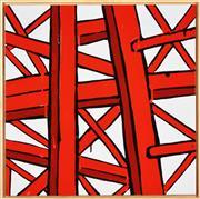 Sale 8339A - Lot 557 - Jasper Knight (1978 - ) - Ladder Logic (Blue), 2016 60 x 60cm