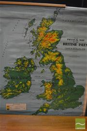 Sale 8338 - Lot 1020 - Vintage School Map of the British Isles