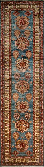 Sale 8402C - Lot 19 - Afghan Super Kazak 320cm x 82cm